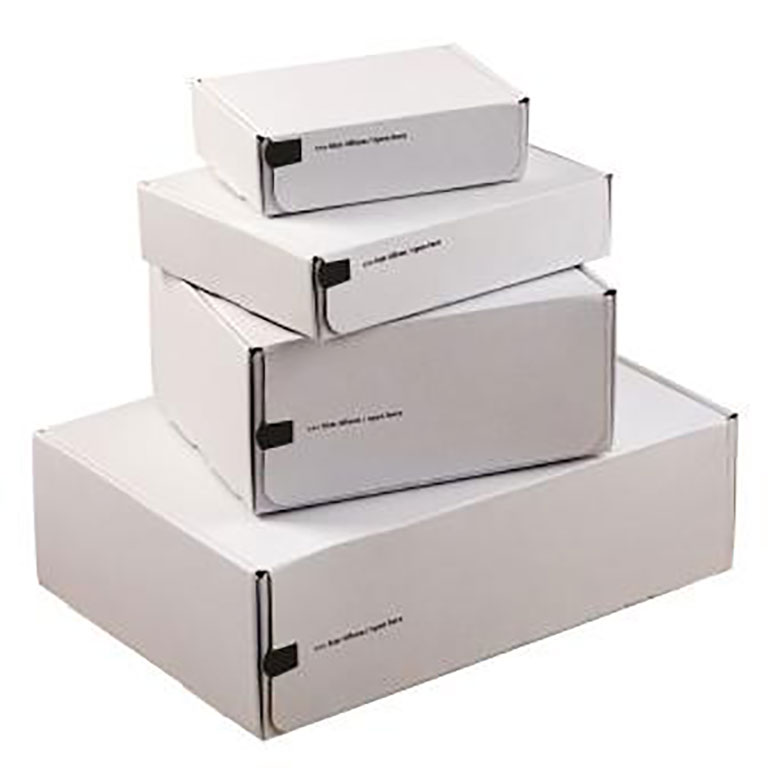 Colompac White Pop-Up Boxes