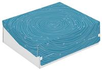 Colompac Turquoise Swirl Printed Box